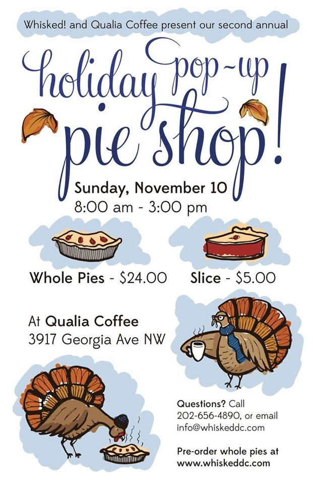 Whisked Pie Pop-Up Shop on November 10